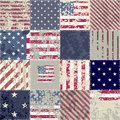 The patchwork of flag usa seamless background pattern Stock Image
