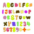 Patchwork font Stock Photo