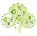 Patchwork green apple tree Royalty Free Stock Images