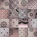 The patchwork from lace seamless background pattern Royalty Free Stock Photo