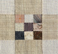 Patchwork quilt basic pattern square brown tone color Stock Photography