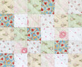 Patchwork quilt pattern cassic square Stock Photo