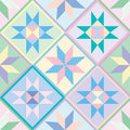 Patchwork Quilt Seamless Pattern Royalty Free Stock Photography