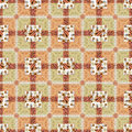Patchwork safari squares seamless pattern texture Royalty Free Stock Images