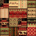 Patchwork seamless african pattern