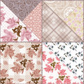 Patchwork seamless floral pattern background retro Stock Photography