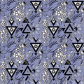 Patchwork seamless floral pattern lilac background