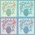 Patchwork seamless floral pattern texture background