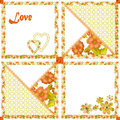 Patchwork seamless pattern hearts and flowers texture background Royalty Free Stock Images