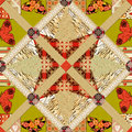 Patchwork seamless pattern texture background with elements Royalty Free Stock Photos