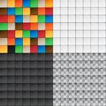 Patchwork set seamless patterns