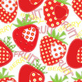 Patchwork strawberry seamless Royalty Free Stock Image