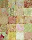 Patchwork of vintage Floral designs Background