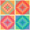 Patchworkmulticolorpattern multicolor patchwork quilt seamless pattern Royalty Free Stock Photos