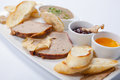 Pate. Liver. Assorted pate on the plate. Royalty Free Stock Photo