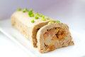 Pate from liver and chockpeas chick pea stuffed with dried apricots Royalty Free Stock Photo