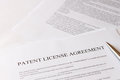 Patent license agreement Royalty Free Stock Photo