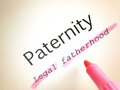 Paternity on a printed page the word Stock Images
