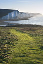 Path along Seaford Head towards Seven Sisters Royalty Free Stock Photos