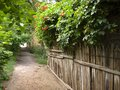 Path along the wooden fence Royalty Free Stock Photo