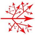 Path of arrows