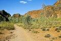 The path in bungle bungles purnululu purnululu national park australian landscape Stock Photography