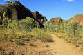 The path in bungle bungles purnululu purnululu national park australian landscape Royalty Free Stock Image