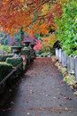 Path in butchart gardens Royalty Free Stock Photos