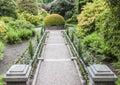 Path through formal garden at biddulph grange stoke on trent england Royalty Free Stock Photos