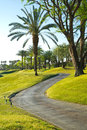 Path at golf course in california pga west la quinta Royalty Free Stock Photos