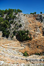 Path in gorge on Crete Royalty Free Stock Photography