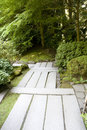 Path in japanese garden nice stone portland Stock Images