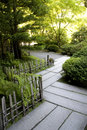 Path in japanese garden nice stone portland Stock Image