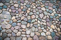 Path paved with cobblestones Royalty Free Stock Image