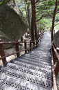 Path at Seoraksan National Park,South Korea Stock Photography