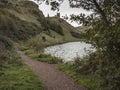 Path at St. Margaret's Lock, Holyrood Park, Edinburgh Royalty Free Stock Photo