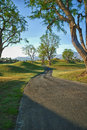 Path thru the trees at course in california golf pga west la quinta Stock Image