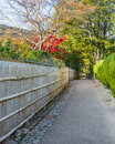 The Path to Bamboo Grov at Arashiyama in Kyoto Royalty Free Stock Photo