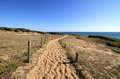 Path to the beach sand of cayola les sables dolonne france Stock Photography
