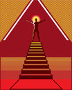 Path to enlightenment stairs vector art Royalty Free Stock Photography