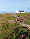 Path to lands end cornwall england uk the most westerly part of with the first and last house Stock Photo