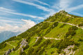 Path to summit view at jenner mountain Royalty Free Stock Image