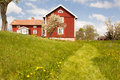 Path to the village houses and environment in sweden Stock Image