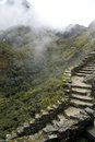 A path to the way to reach Machu Picchu Lost City Royalty Free Stock Photo