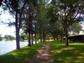 Path way around the lake picture photo background Royalty Free Stock Photography
