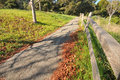 Path With A Wooden Fence And T...