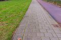 Paths foot and bicycle path Royalty Free Stock Image
