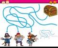 Paths or maze cartoon game Royalty Free Stock Photo