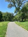 Pathway in Central Park, Manhattan, New York City Royalty Free Stock Photo