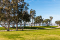 Pathway Through Embarcadero Marina Park North in San Diego Royalty Free Stock Photo